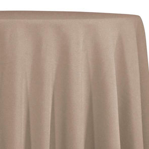Taupe Tablecloth in Polyester for Weddings
