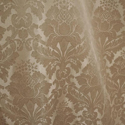 Damask Poly Table Linen in Taupe 1189