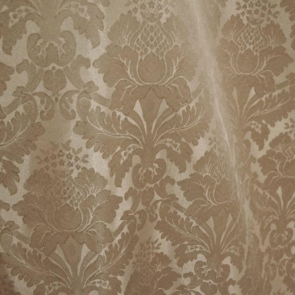 Damask Polyester Table Napkin in Taupe 1189