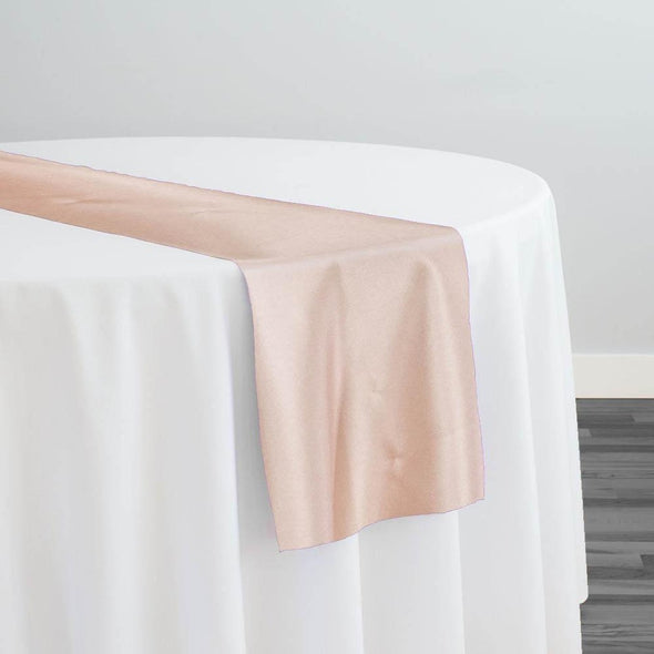 Lamour (Dull) Satin Table Runner in Taupe 1347