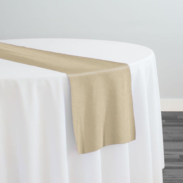 Premium Polyester (Poplin) Table Runner in Taupe 1348