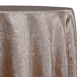 Crush Satin (Bichon) Table Linen in Taupe 17