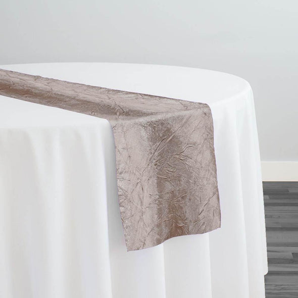 Crush Satin (Bichon) Table Runner in Taupe 17