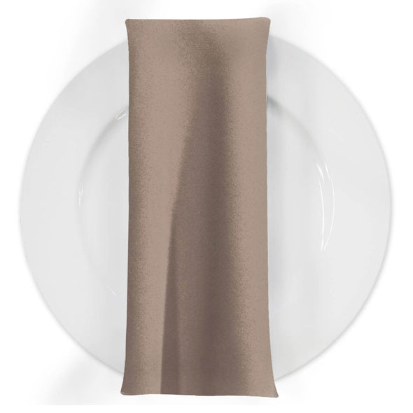 Premium Polyester (Poplin) Table Napkin in Taupe D 1410