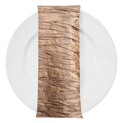 Accordion Taffeta Table Napkin in Taupe Gold