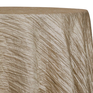 Accordion Taffeta Table Linen in Taupe Gold