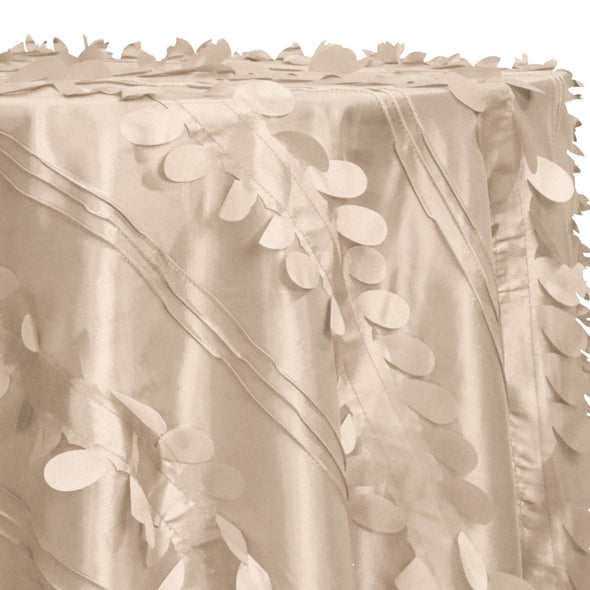 Diagonal Taffeta Table Linen in Taupe Gold