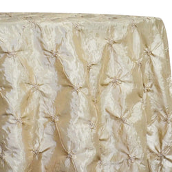 Belly Button (Pinwheel) Table Linen in Taupe Gold