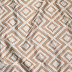 Paragon Print (Lamour) Table Runner in Taupe