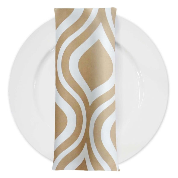 Groovy Print Lamour Table Napkin in Taupe