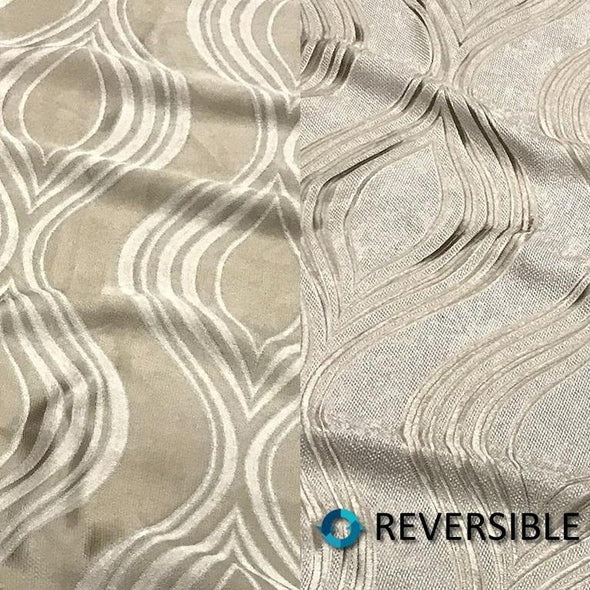 Eclipse Jacquard (Reversible) Table Runner in Taupe