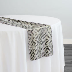 Gio Jacquard Table Runner in Taupe