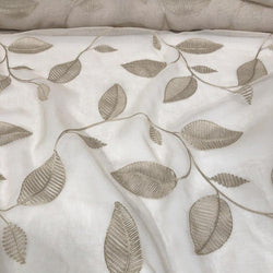 Birch Leaf Table Linen in Taupe