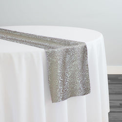 Miramar Jacquard Table Runner in Taupe