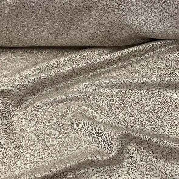 Miramar Jacquard Table Linen in Taupe