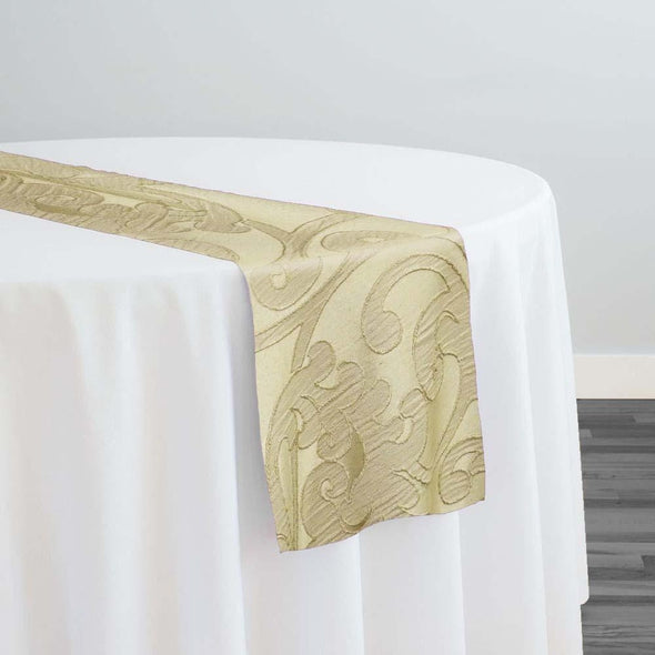 Classic Jacquard Table Runner in Taupe