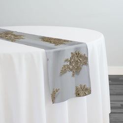 Venetian Lace Table Runner in Taupe