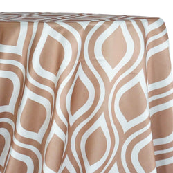 Groovy Print (Lamour) Table Linen in Taupe