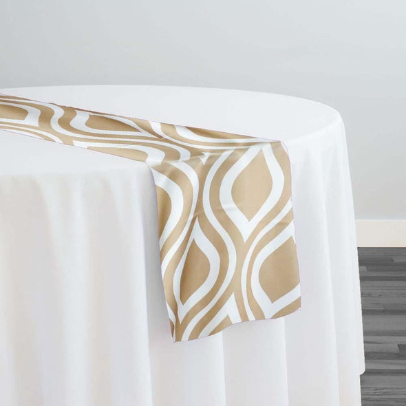 Groovy Print (Lamour) Table Runner in Taupe