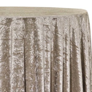Panne (Crush) Velvet Table Linen in Taupe