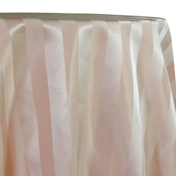 Imperial Stripe Table Linen in Taupe
