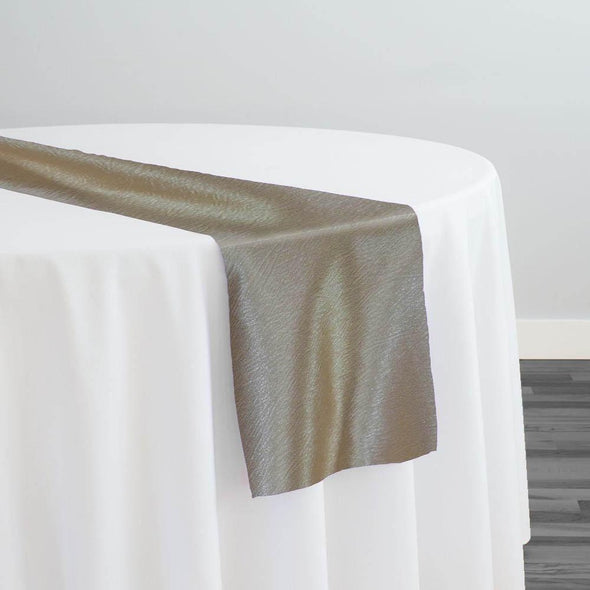 Luxury Satin Table Runner in Taupe
