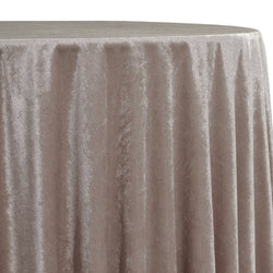 Lush Velvet Table Linen in Taupe
