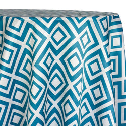 Paragon Print (Lamour) Table Linen in Teal
