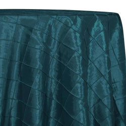 "2"" Pintuck Taffeta Table Linens in Teal 032"