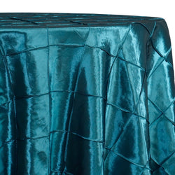 "4"" Pintuck Taffeta Table Linen in Teal 033"