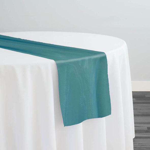 Crystal Organza Table Runner in Teal 776