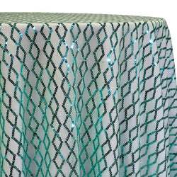 Vortex Sequins Table Linen in Tiffany