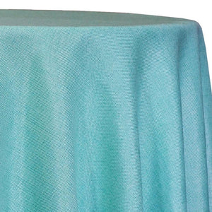 Imitation Burlap (100% Polyester) Table Linen in Teal Green