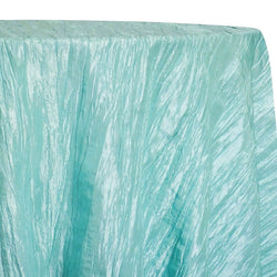Accordion Taffeta Table Linen in Teal Green