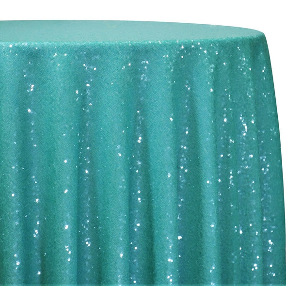 Glitz Sequins Table Linen in Teal Green