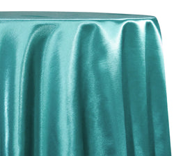 Shantung Satin (Reversible) Table Linen in Teal Green