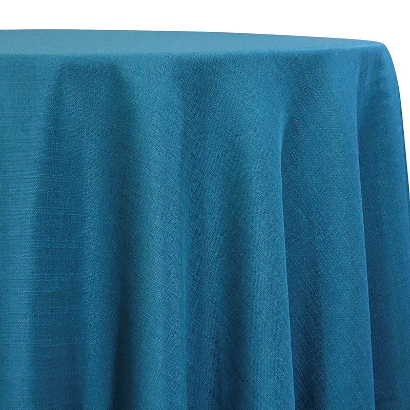 Rustic Linen Table Linen in Teal