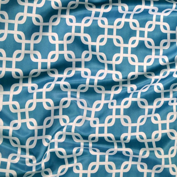 Lynx Print (Lamour) Table Runner in Teal