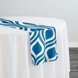 Groovy Print (Lamour) Table Runner in Teal
