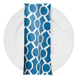 Halo Print Lamour Table Napkin in Teal
