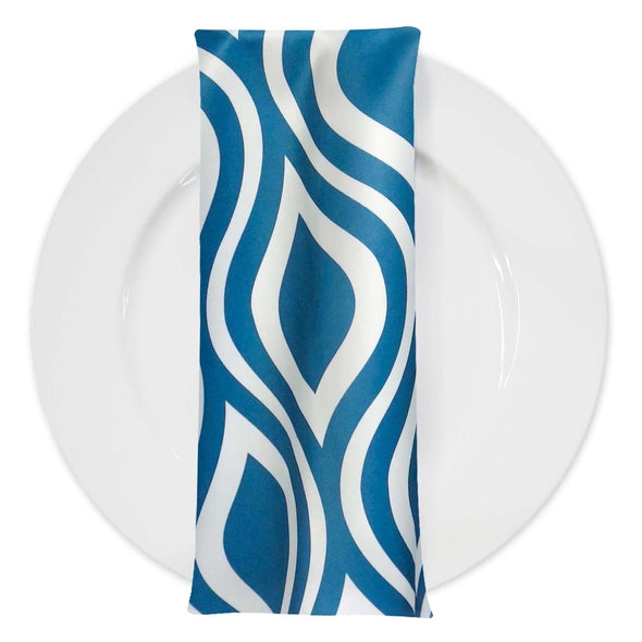 Groovy Print Lamour Table Napkin in Teal