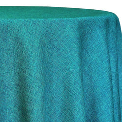 Imitation Burlap (100% Polyester) Table Linen in Teal