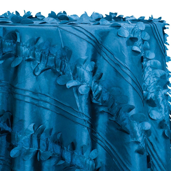 Diagonal Taffeta Table Linen in Teal