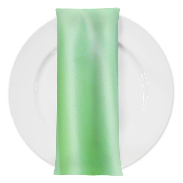 Lamour (Dull) Satin Table Napkin in Teal Green 1645