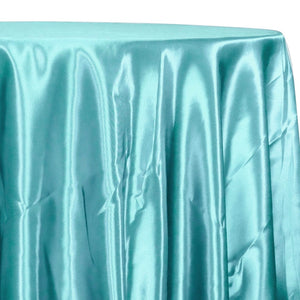 Bridal Satin Table Linen in Teal Green 645