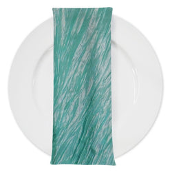 Accordion Taffeta Table Napkin in Tiffany