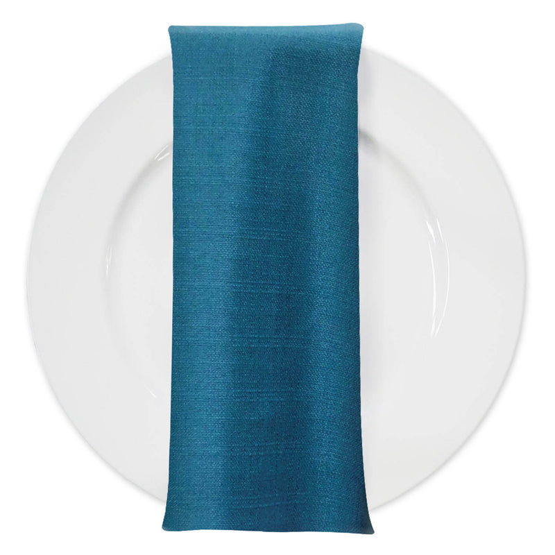 Rustic Linen Table Napkin in Teal