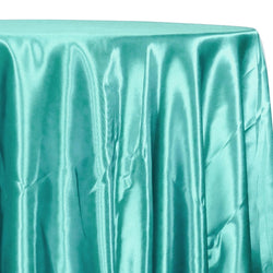 Bridal Satin Table Linen in Teal Green 211
