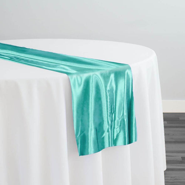 Bridal Satin Table Runner in Teal Green 211
