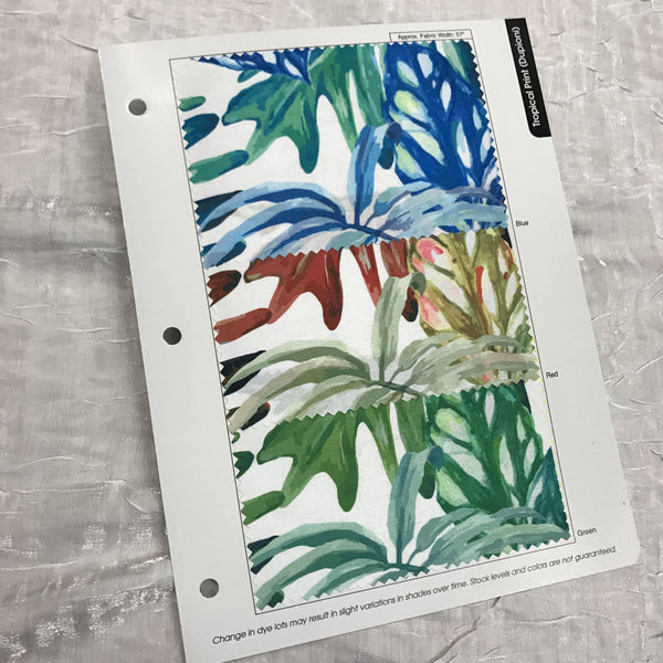Tropical Print (Dupioni) Color Card